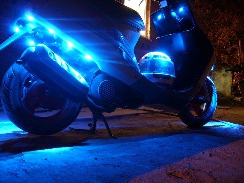 подсветка на скутер своими руками