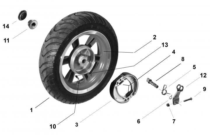 Как снять заднее колесо на скутере?