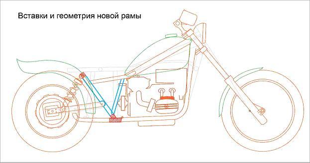 Чоппер из Урала чертеж