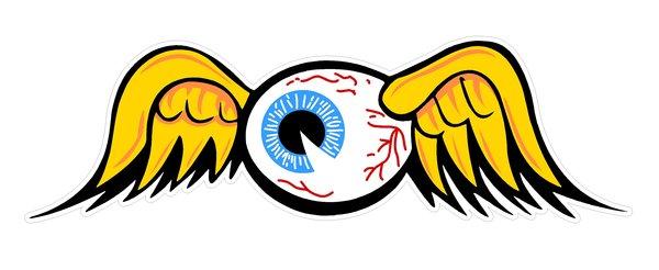 Байкерские нашивки летучий глаз