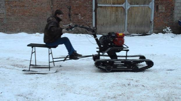 Снегоход своими руками из мотоблока
