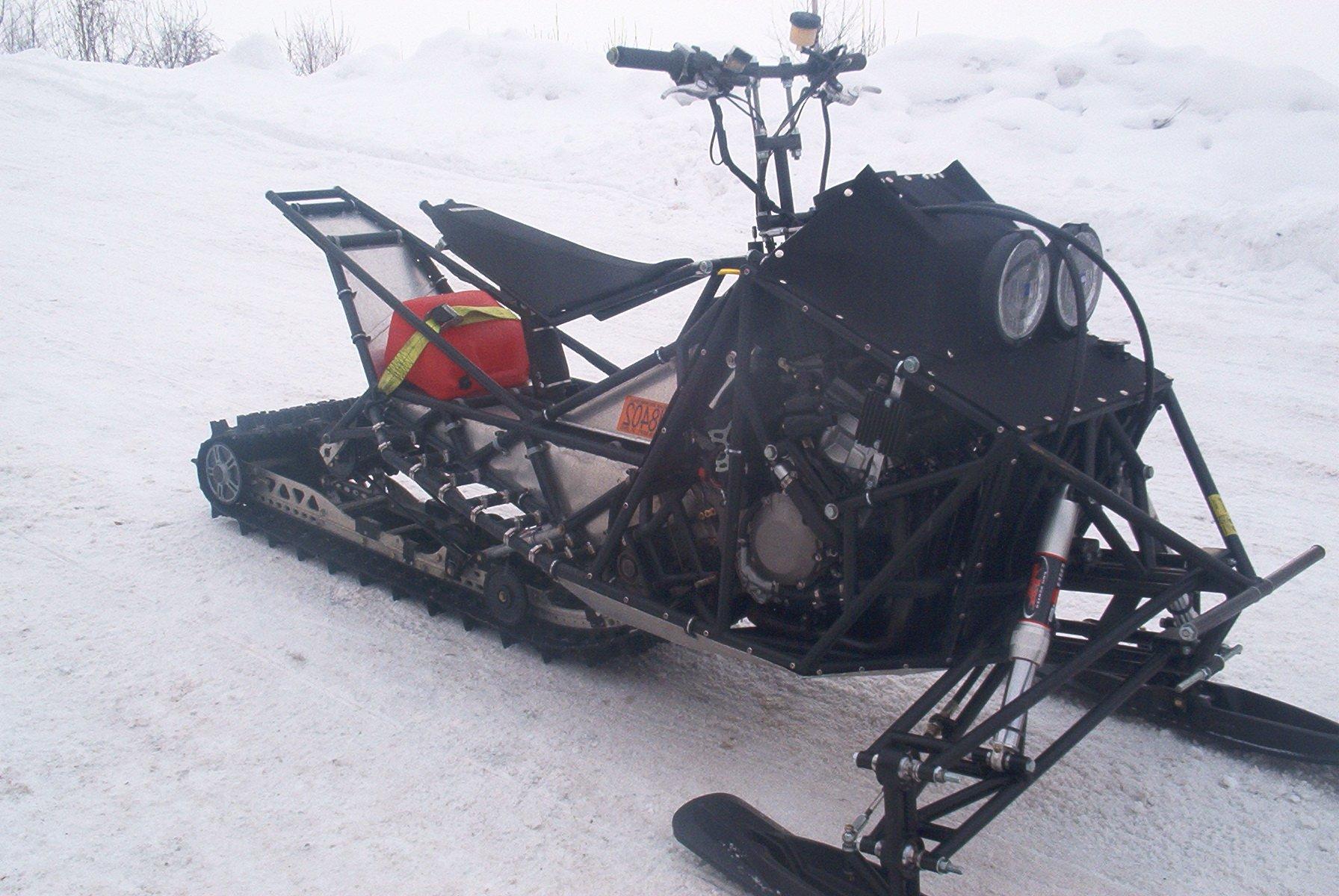 Как сделать самодельный снегоход на гусеницах 88