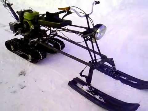 Снегоход из мотоблока самодельный