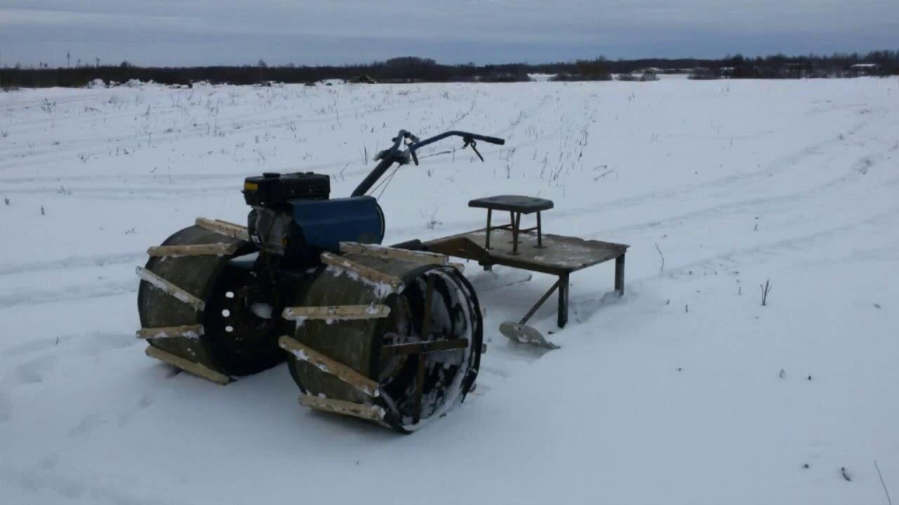 Снегоход из мотоблока как сделать