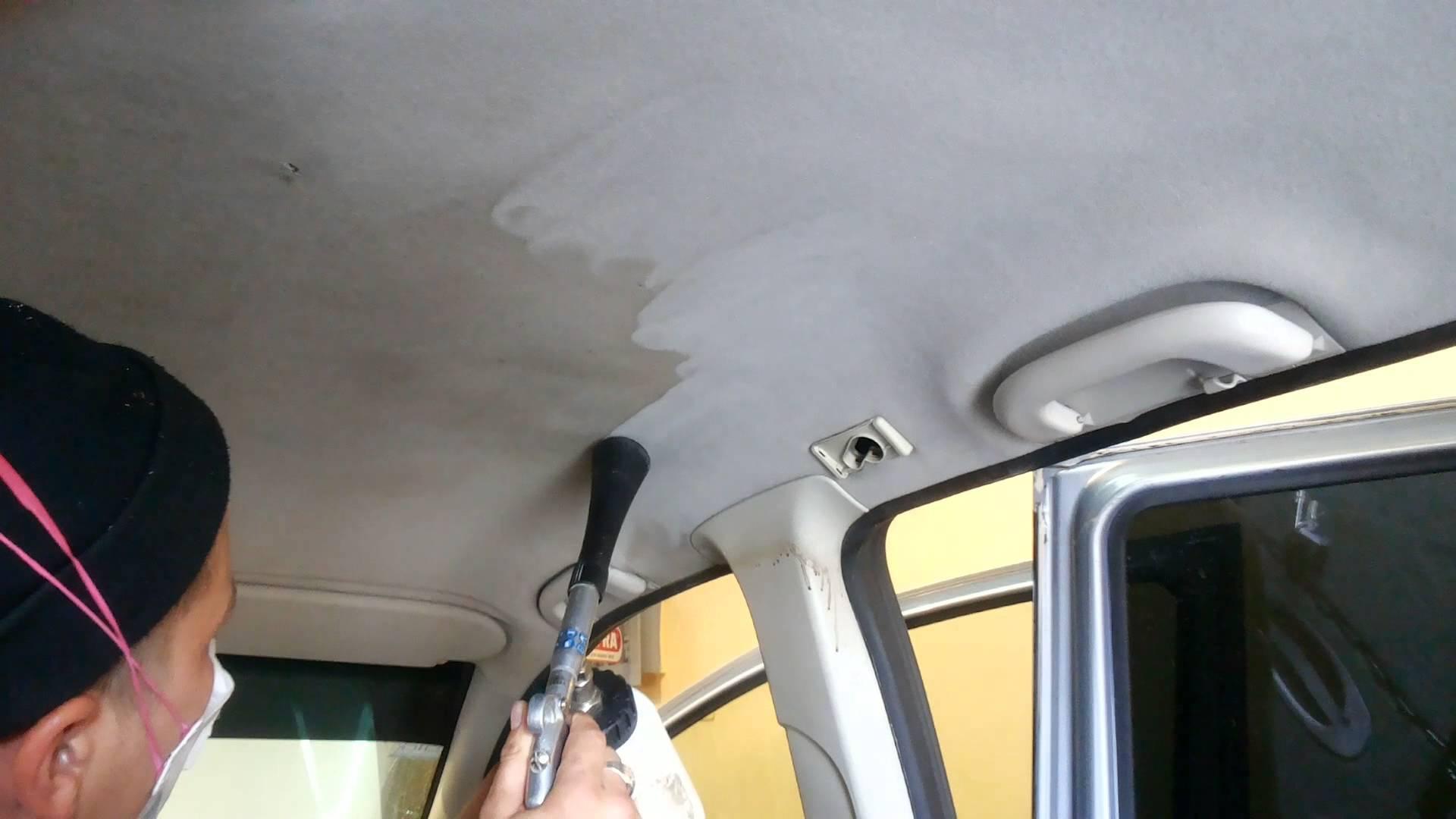Чем отмыть потолок в автомобиле