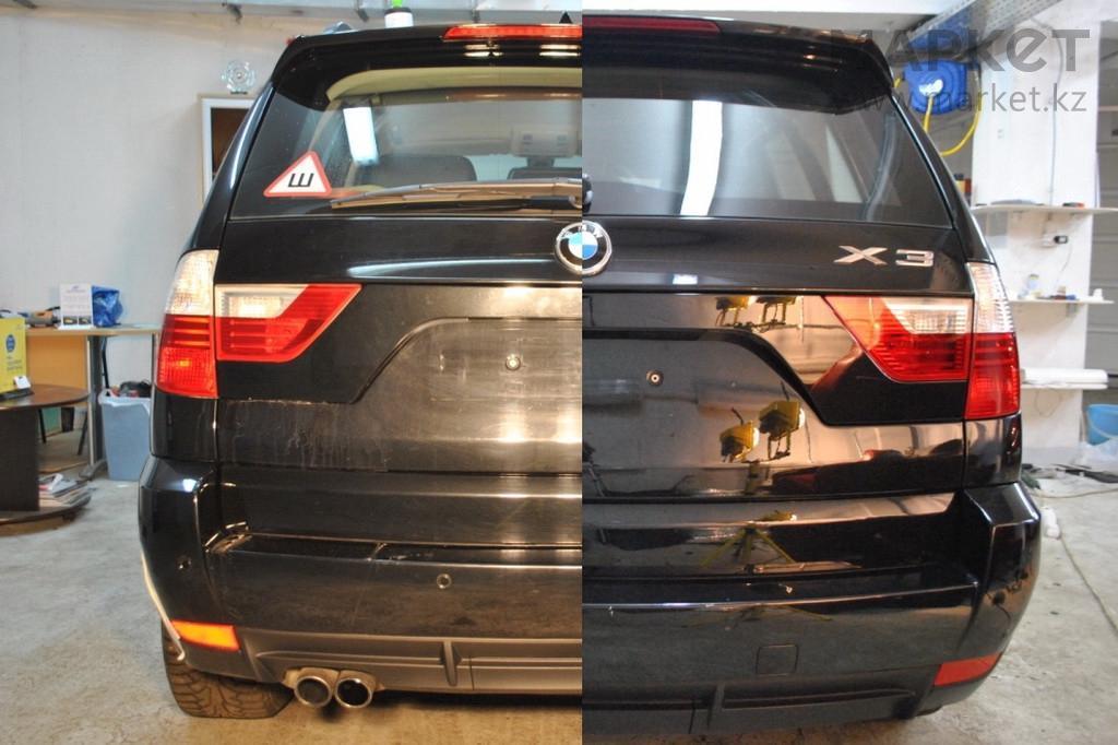 удаление царапин на кузове автомобиля до и после