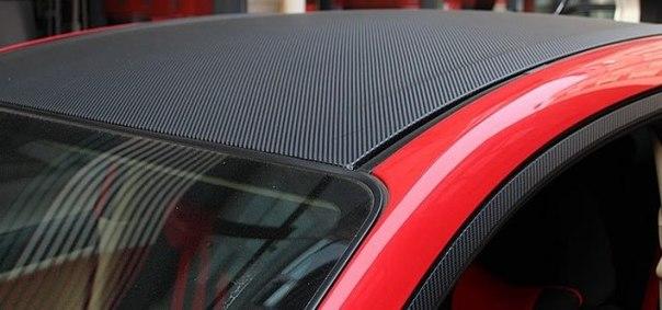 карбоновая пленка для авто на крыше