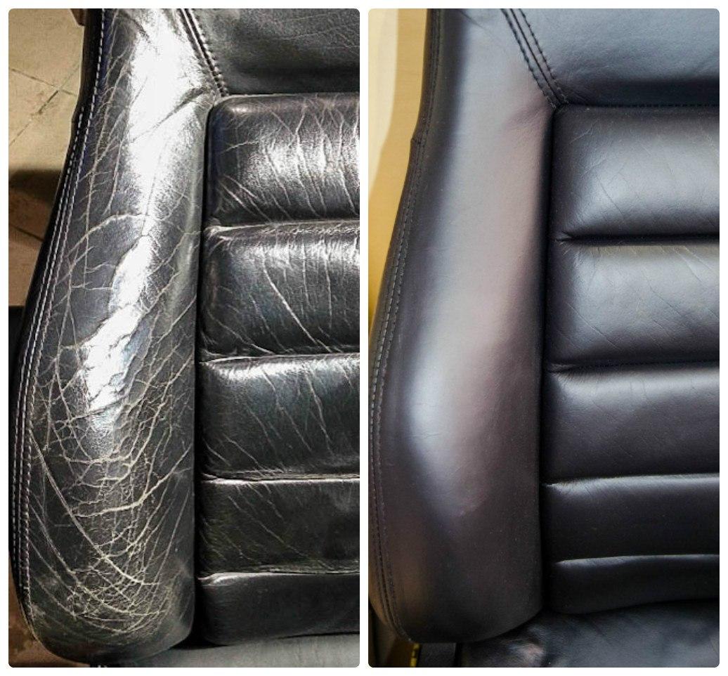 Покраска кожаных сидений своими руками