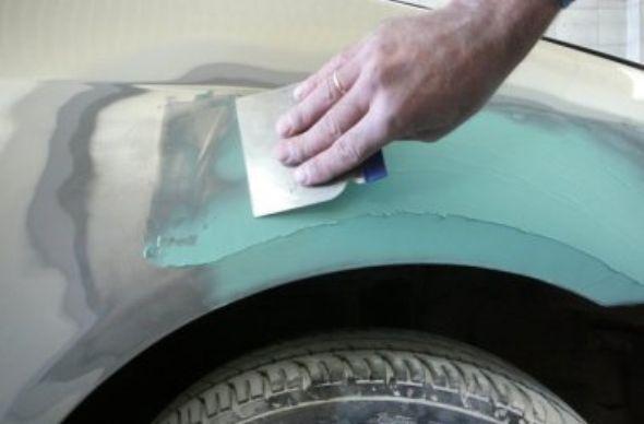 покраска авто своими руками - шпатлевка